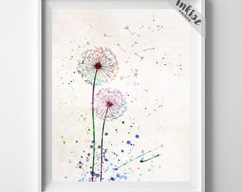 Dandelion Print, Flower Poster, Dandelion, Flower Print, Dandelion Poster, Flower Decor, Bedroom Art, Baby Decor, Type 1, Gift For Him