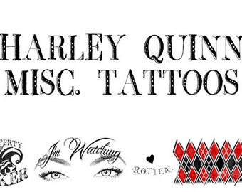 HARLEY QUINN Suicide Squad - Miscellaneous Tattoos