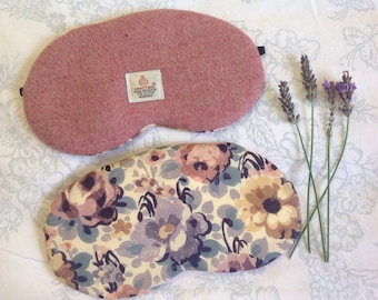 Harris Tweed light Peach Sleep/eye mask / Lavender scented