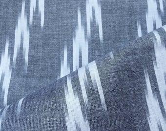 Pure Linen Cotton Ikat Handloom fabric, Dress Fabric, Ikat Fabric, Cotton Linen Fabric by yard