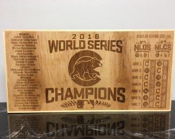 Deluxe Chicago Cubs World Series Champions Sign