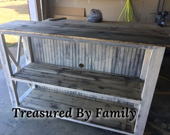 Primitive Farmhouse Style TV Cabinet/console cabinet Media Stand