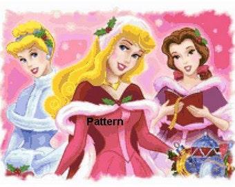 Christmas Princesses #2. Cross Stitch Pattern. PDF Files.