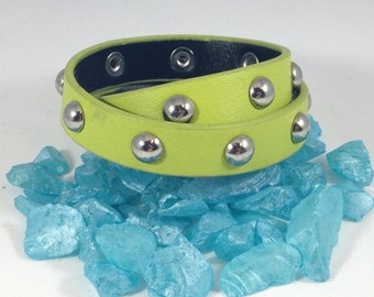 Double wrapped studded cuff