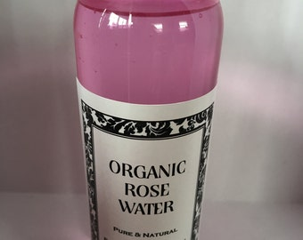 Organic Rose Water Pure & Natural 4oz.