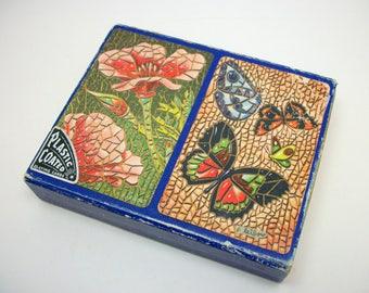 Arrco Playing Card Set in Box - Liebow artwork Mosaic - Vintage Mod 60s Bridge Set