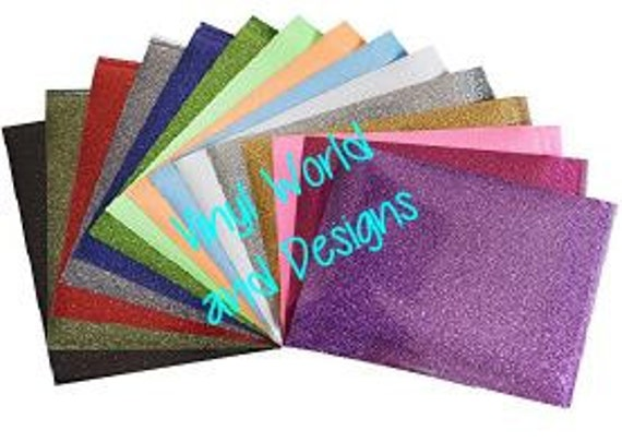 Siser Glitter HTV Iron On or Heat Press Glitter Heat Transfer Vinyl for Silhouette, Cricut or other cutters