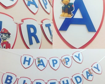 Paw patrol banner, paw patrol party decor, paw patrol birthday banner, paw patrol decor, paw patrol party decorations