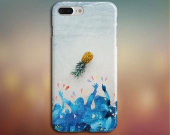 WashedUp Pineapple Phone Case, iPhone X, iPhone 7 Plus, Rubber iPhone Case, Galaxy s8, Samsung Galaxy s8 Plus, Google Pixel, Summer Outdoors