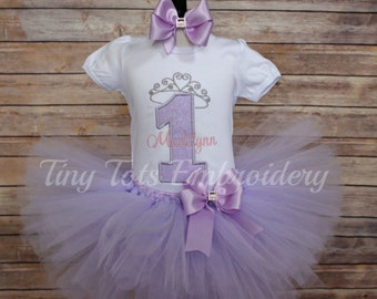 Sofia the First Tutu Outfit ~ Princess Birthday Outfit ~ Includes Top, Tutu and Hair Bow ~ Any Colors of Your Choice!