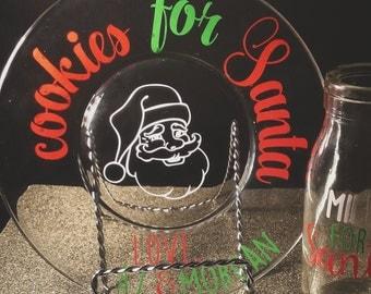 Santa Cookie Plate, Plate for Santa