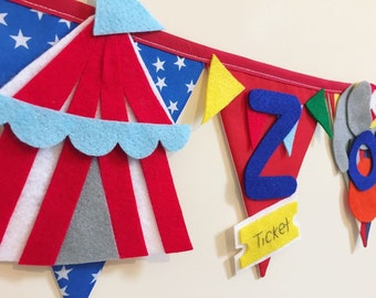 Circus carnival bunting banner decoration