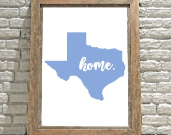 Texas Wall Art, Printable Wall Art, Wall Decor, Wall Hanging, Art, Digital Download, Instant Download, Digital Print, Texas Sign