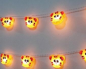 String Lights Tiger : valentine love time heart white string lights 20 rattan party