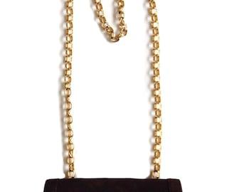 """Chanel Vintage Brown Suede Saddle Quilted Handbag Shoulder Bag Purse - 8.5""""L x 5.15""""H x 2.5""""W"""
