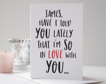 So In Love With You Valentine's Day Card - Personalised Valentine's Card - Romantic Card - Couples Card - Anniversary Card