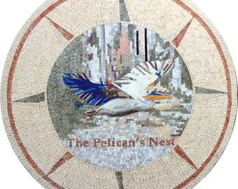 The Pelican's Nest - Mosaic Medallion