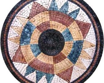 Mosaic Tile Artwork - Solaria Rondure
