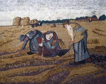 Harvest Scene Outdoor Decorative Mosaic