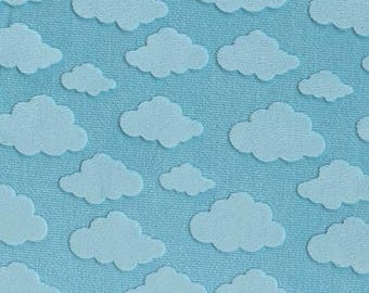 Embossed Cloud on Minky by Michael Miller Fabrics