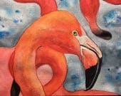 Flamingo, Original Waterc...