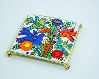 Villeroy and Boch Acapulco design tile coaster trivet hot plate, vintage seventies ceramics