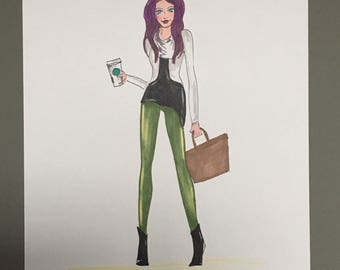 "Fashion Illustration ""Cassidy"""