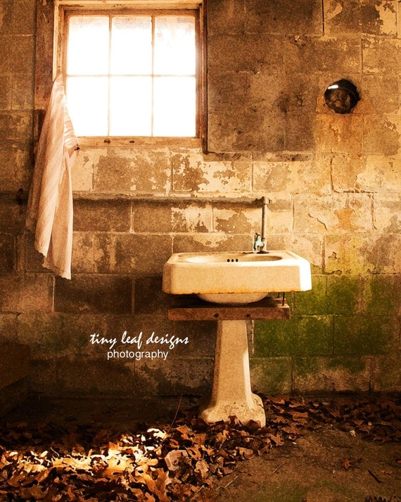 An Old Sink in an Abandoned Barn Original Photography