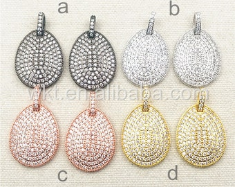 WT-P1015 Holiday Sale!!! Handmake Jewelry,Saprkly CZ Micro Pave Diamond Jewelry Findings,Mix color Cubic Zirconia Charms For Gift