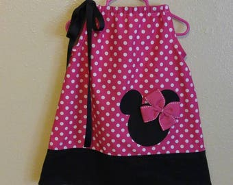ON SALE-Minnie Mouse Pillowcase Dress (Sizes 3 Months -16)