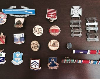 US Military Medal Lapel Pins - Assorted Army & National Guard Badge Regalia - Regiment / Infantry / Battalion