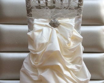 Sale!!! Wedding dress chair cover. Free shipping!