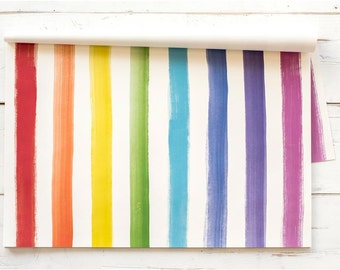 Paper Placemat Pack - Painted Stripe Pattern - Pack of 30