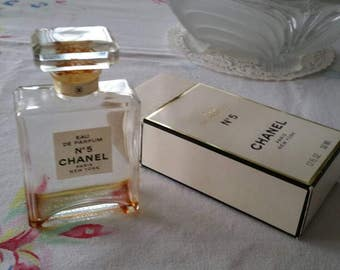 Vintage Chanel No5 Bottle and Box