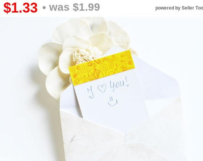 SUNNY DAY 10 pcs in set! Mini card for a gift and surprise, Yellow & Flowers