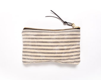 Waxed Canvas pouch / Striped / LEO LEBEL