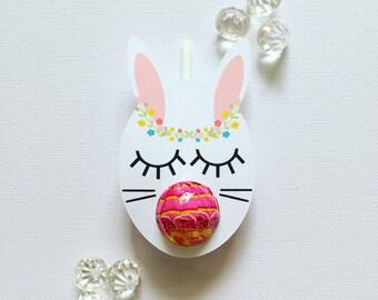 Sleepy bunny lollipop holders