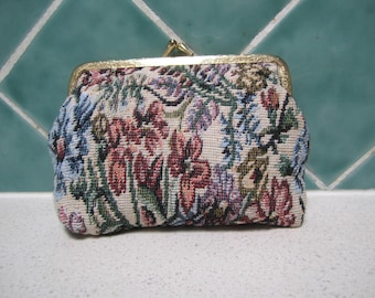 Vintage Tapestry Coin Purse - Floral