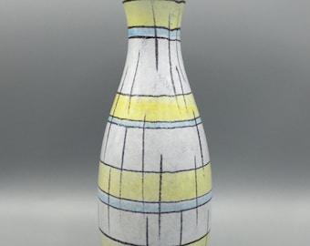 Bay Ceramic / Keramik 584 - 25  Vintage Mid - Century vase from the 1950s / 1960s,  West Germany Pottery. WGP ceramic.