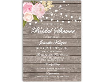 Bridal Shower Invitation Template, DIY Bridal Shower Invite, Cheap Invitation, Rustic Shower Invite, INSTANT DOWNLOAD Microsoft Word #CL138