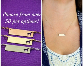 SALE • Labrador Retriever Necklace • Lab Dog Necklace • Dog Loss • Rescue Pet Gift •  Shelter Dog • Personalized Pet Name • Memorial Gift