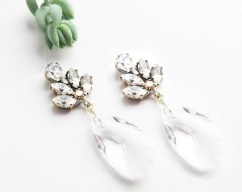 Swarovski Bridal Earrings- Crystal Earrings-Crystal Drop Earrings- Bridal Earrings-Chandelier Bridal Earrings