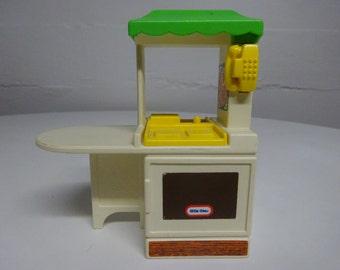 Vintage Little Tikes Miniature Kitchen Dollhouse Furniture - FREE SHIPPING