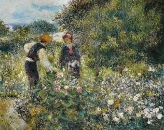 Pierre Auguste Renoir: Flower Picking. Fine Art Print/Poster. (004275)