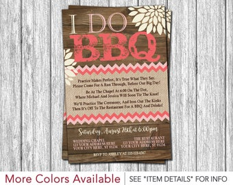 I Do BBQ Invitation - Wedding Rehearsal Invitations