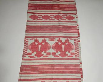 Vintage woven Krolevets'kyi towel with the eagles