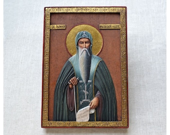 Gilded Icon Painting from the Rila Monastery