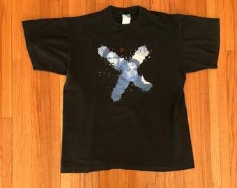 Vintage 90s The X-Files 1995 Black T Shirt. Size Large