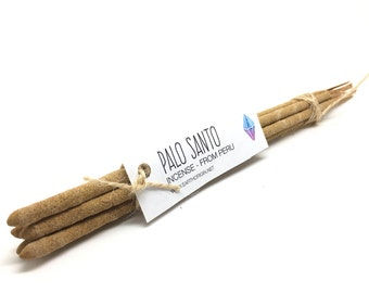 Palo Santo Incense from Peru Hand Rolled  5 or 10  sticks.