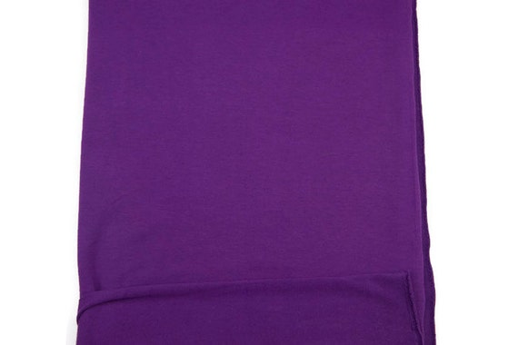 Purple baby french terry knit fabric 1 yard and 33 inches for Purple baby fabric